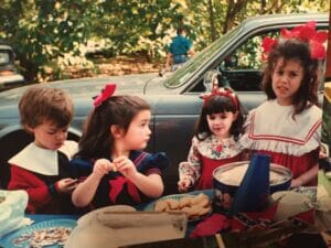 These children, 5th generation Ole Miss students, are all adults now and have children of their on that come to the picnics.