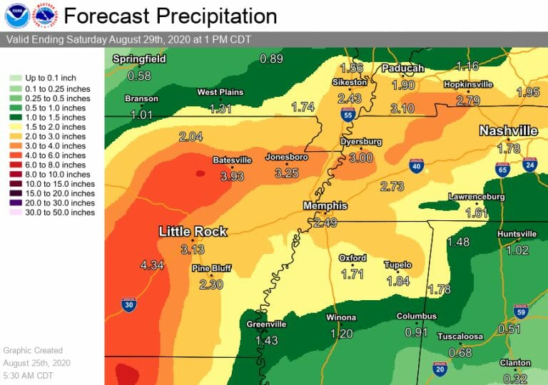 Laura Will Bring Rain, Winds to Lafayette County Later This Week