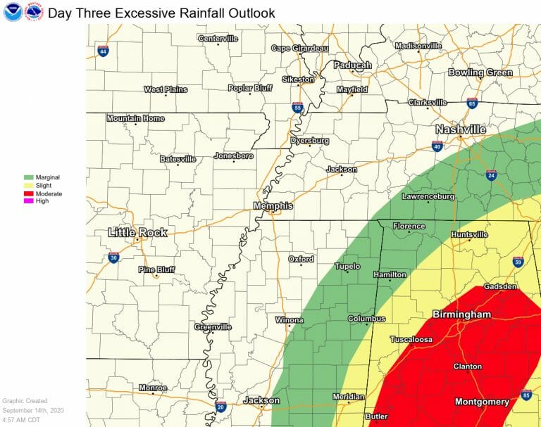 Tropical Storm Sally Expected to Bring Rain to Oxford
