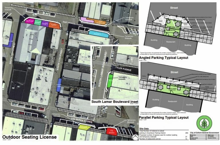 Map Released for Downtown Outdoor Dining Areas