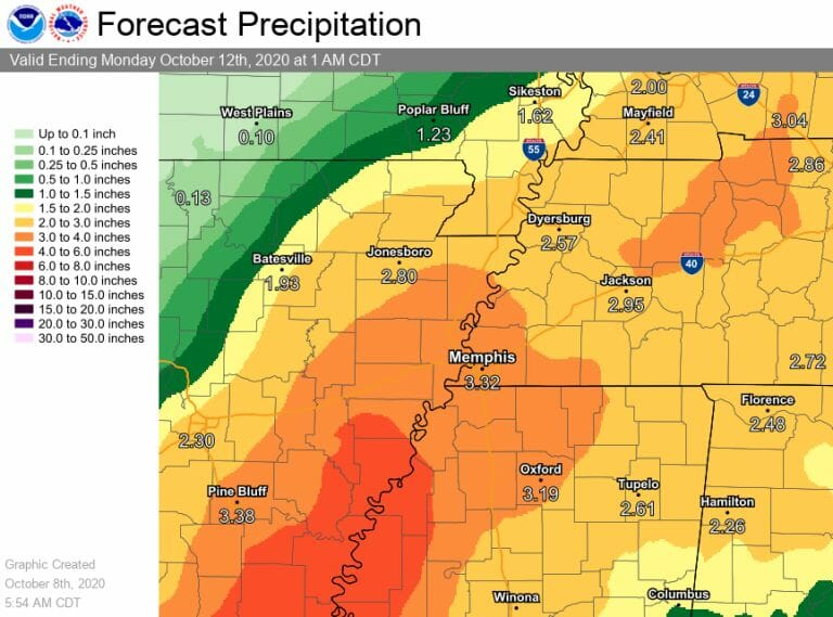 Remnants of Delta Expected to Bring Heavy Rain, Gusty Winds