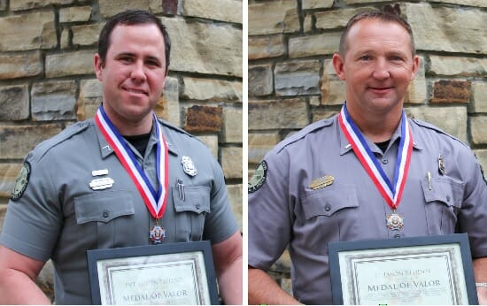 Two Mississippi Department of Wildlife Officers Awarded Medal of Valor