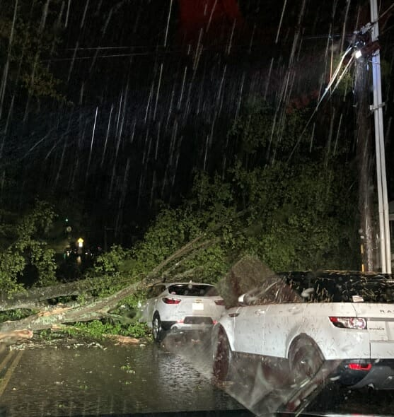 Early Morning Storms Knock Down Trees, Powerlines in Oxford