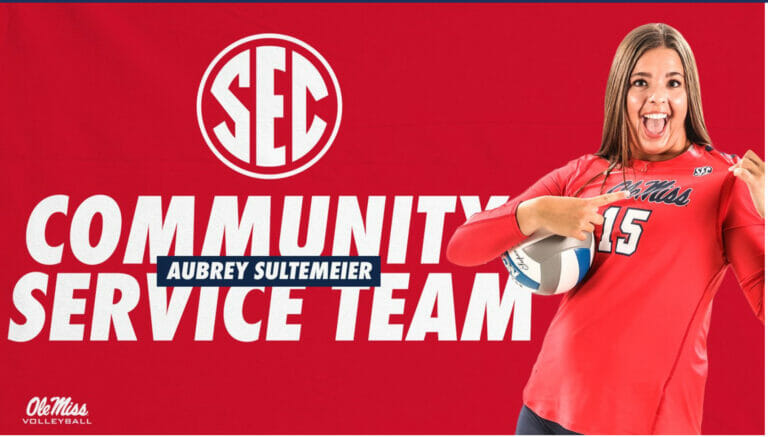Sultemeier Named to the SEC Volleyball Community Service Team
